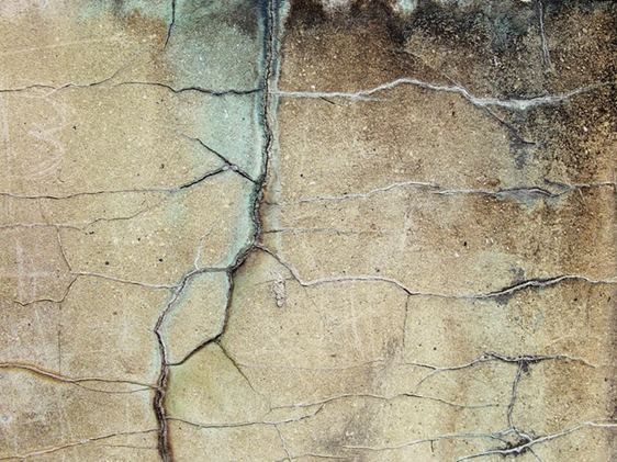 Cracks on a concrete floor